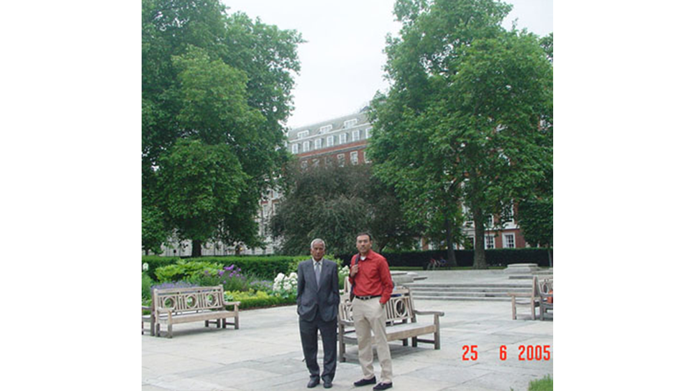 With my dad in London. June 2005
